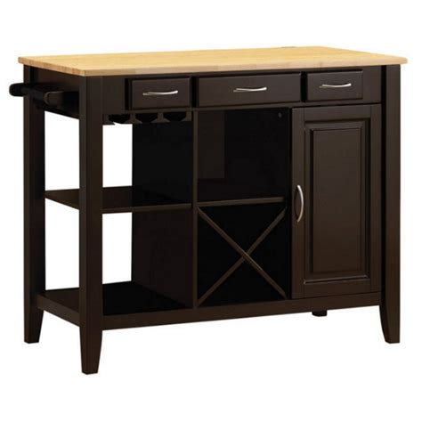 kitchen cart butcher block top coaster kitchen cart with butcher block top in and