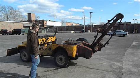 kaiser willys jeep jeep a trench 1960 jeep cj5 willys kaiser farm trencher