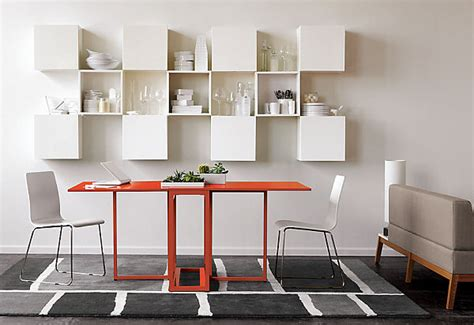 foldable dining table in orange decoist
