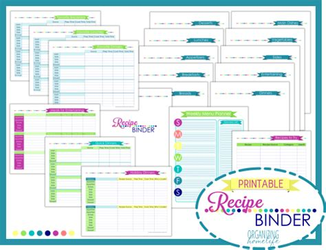free recipe templates for binders 6 best images of recipe binder printable pages for free