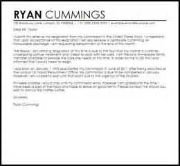 navy officer resignation letter sle letter sles
