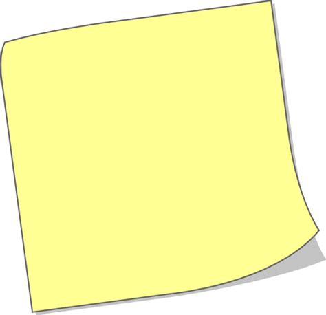 post it note clipart clipart suggest