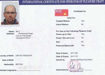 sailing boat licence boat licence