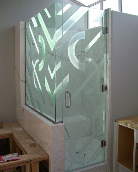 Etched Glass Shower Door Designs Contemporary Glass Designs By Etched Carved Sans Soucie Sans Soucie Glass