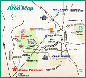 area map disney rental