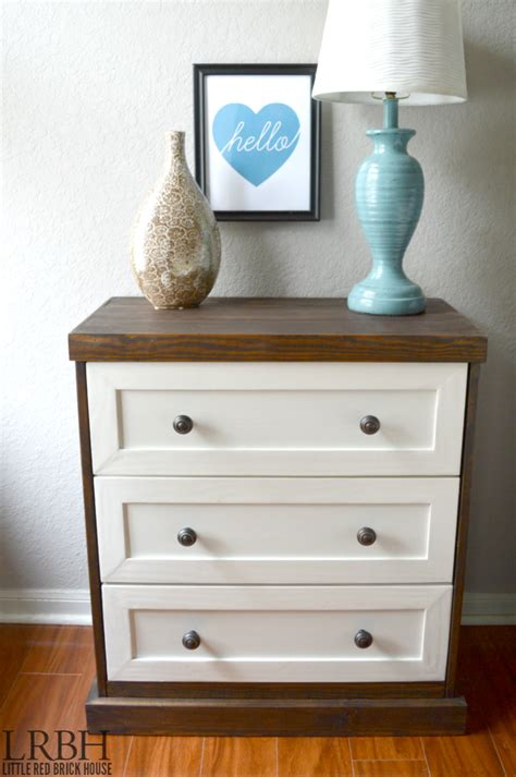 ikea hacks dresser two toned ikea rast hack domestically speaking