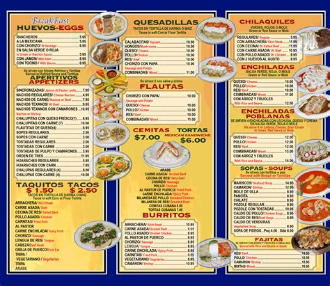 best photos of mexican restaurant menu template mexican
