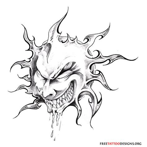 evil tattoo flash the gallery for gt evil moon designs