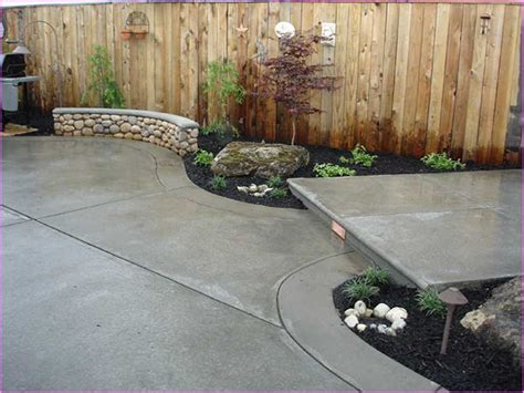 Backyard Cement Patio Ideas Front Yard Concrete Patio Ideas Home Design Ideas