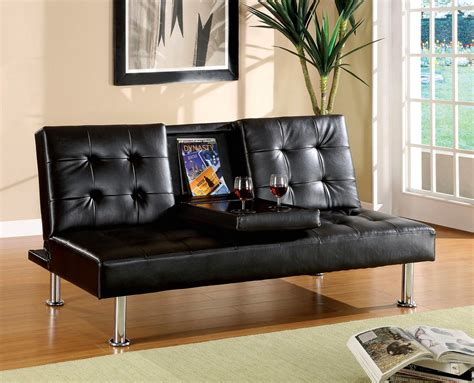 black sofa set orinda contemporary black sofa set with leatherette seat cm2666