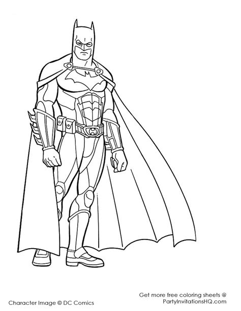 coloring page of a superhero superhero coloring pages to download and print for free