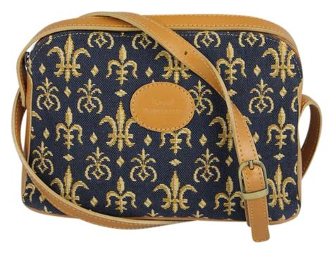 Royal Tapisserie by Royal Tapisserie Tapestry Navy Leather Cloth