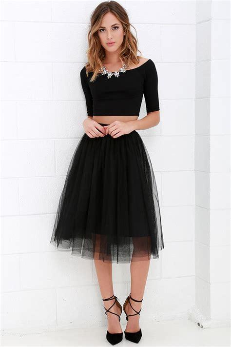 Tulle Skirt black skirt tulle skirt midi skirt 49 00