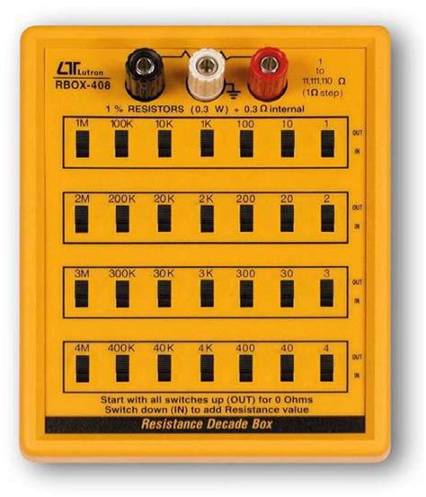 resistor box for electrical testing lutron rbox 408 resistance decade box