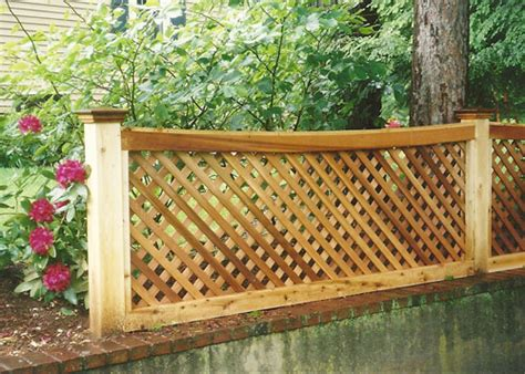 Trellis Fencing On Top Of Wall Wood Vinyl Lattice Fence Variations Boston Ma Homes