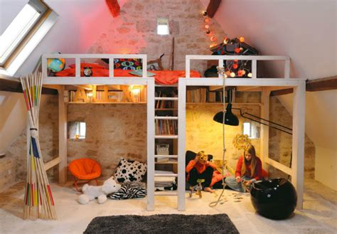Floating Beds Elevate Your awesome attic loft kids bedroom decoholic