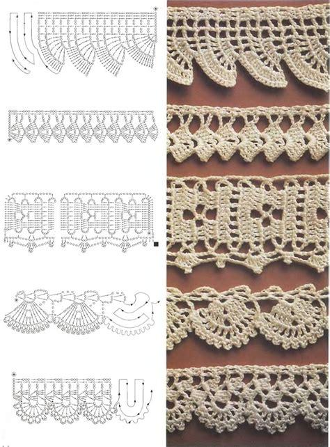 crochet edgings 1 symbol diagram crochet borders pinterest
