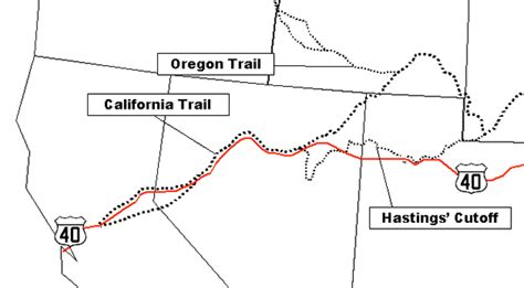 california trail us map u s route 40 california trail