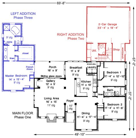 expandable floor plans expandable one story house plan