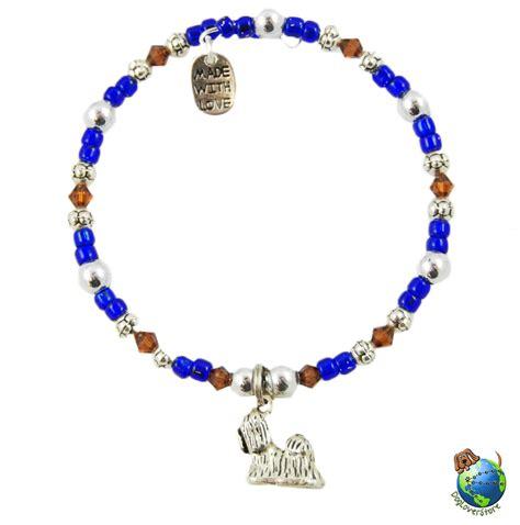 shih tzu charm shih tzu beaded charm bracelet silver handmade ebay