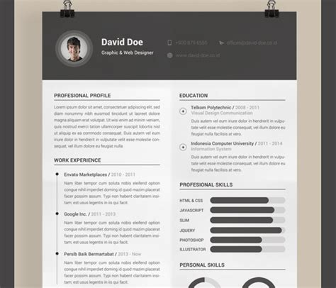 Resume Template Illustrator by Resume Template Illustrator Simple Resume Template