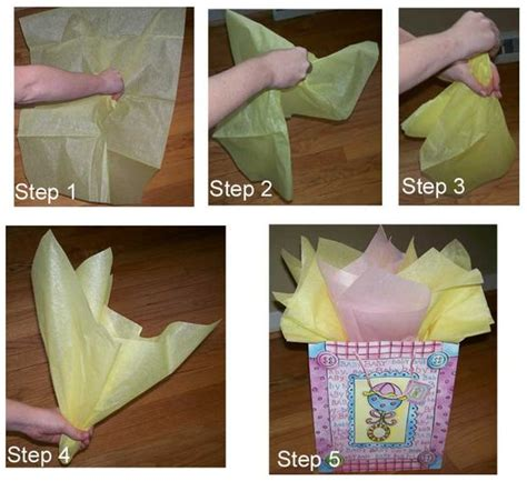 How To Fold Gift Tissue Paper - how to place tissue paper in a gift bag and make it look