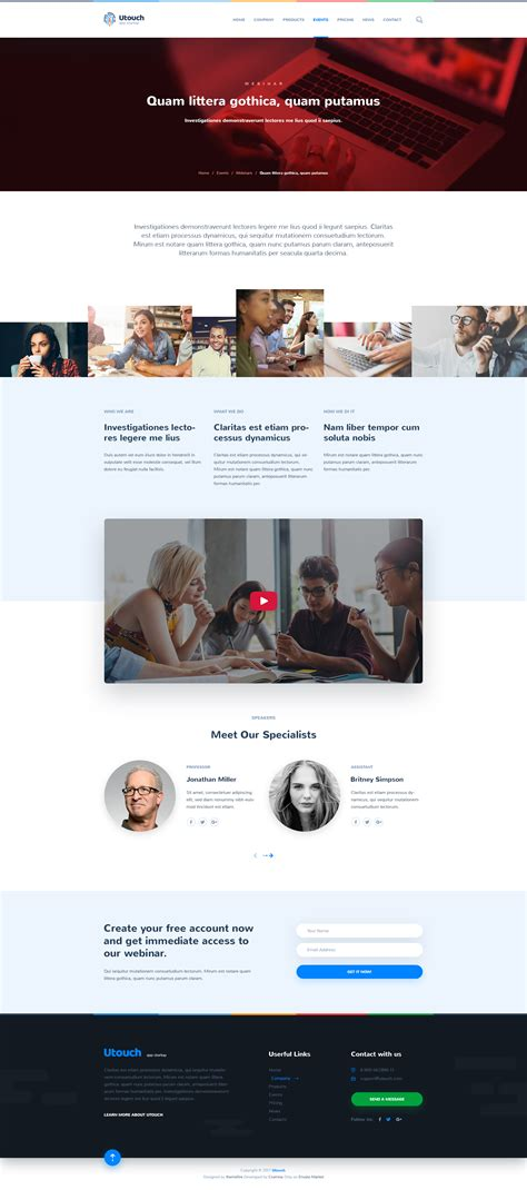 themeforest utouch utouch app startup website psd template by themefire