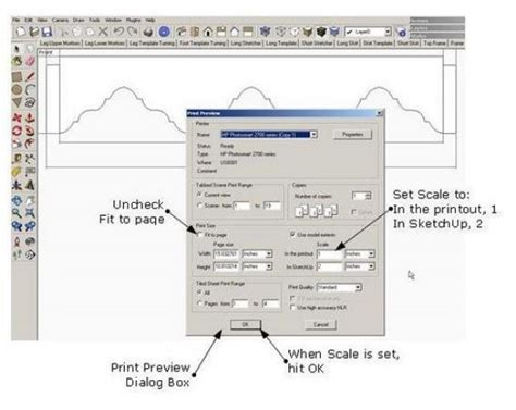 sketchup layout scale bar printing to scale finewoodworking