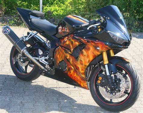 Motorrad Airbrush pin motorrad airbrush on