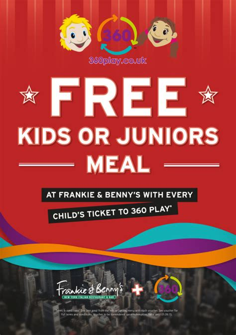 printable vouchers frankie and bennys a free children s meal at frankie and benny s 360 play