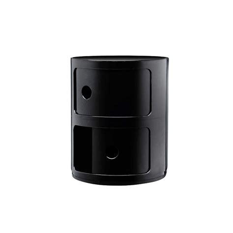 mobili componibili kartell mobile contenitore componibili 2 moduli nero