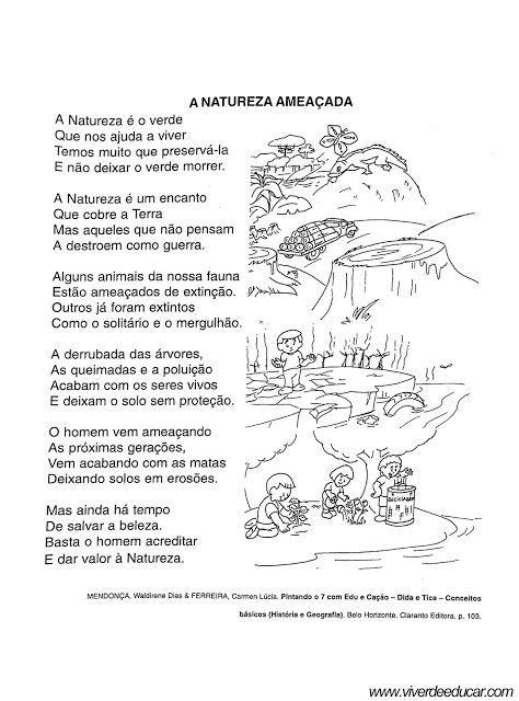 Poema-Sobre-Natureza_7 | Educação infantil, Poema sobre