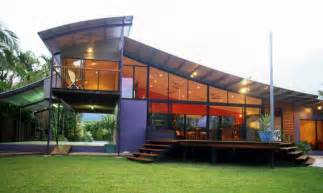 Marvelous unique house design with many windows tropical homes with
