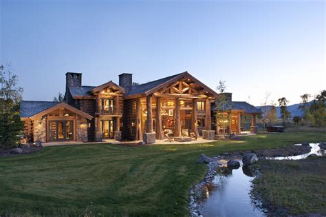 luxury cabin homes luxury log cabin homes wsj mansion wsj
