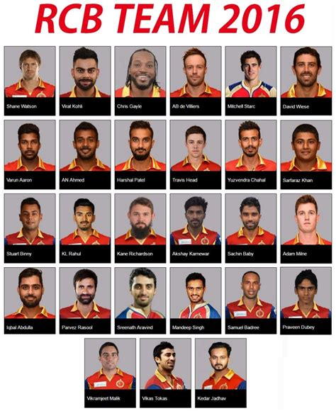 Team Of Rcb In 2017 Ipl List | ipl 2016 com 2017 2018 best cars reviews