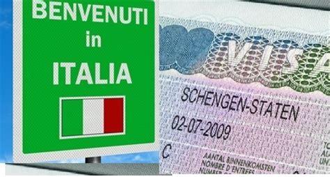 visto ingresso visto turistico per l italia ingresso in italia per gli