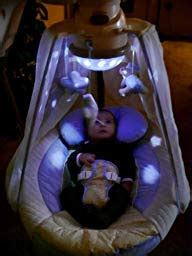 baby swing with lights amazon com fisher price papasan cradle swing starlight