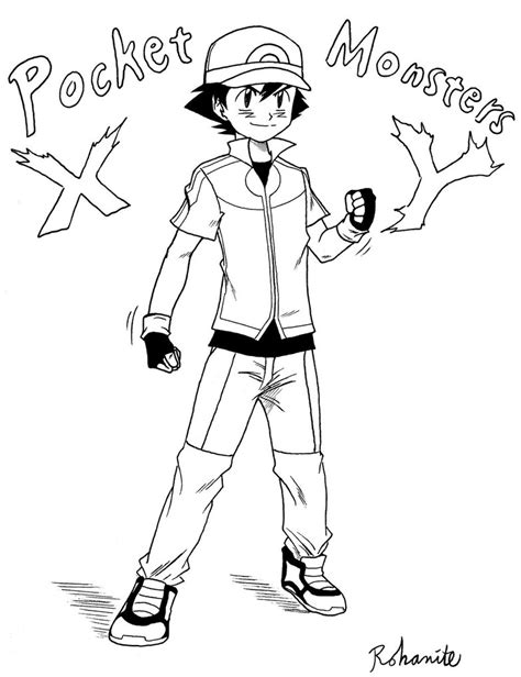 Ash Ketchum Xy Outfit By Rohanite On Deviantart Coloring Pages Xy