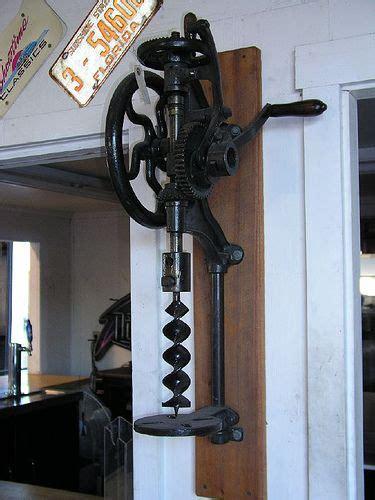 antique drill press   bought