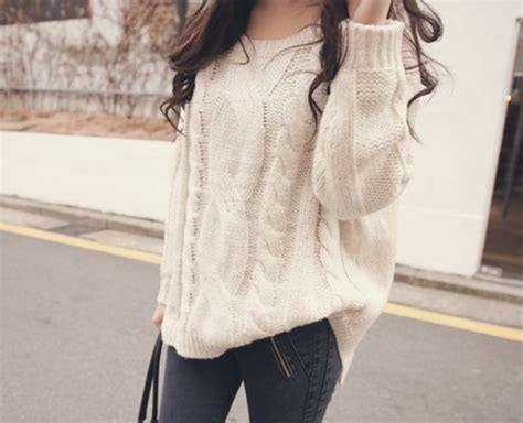 big sweaters sweater clothes big white knitted sweater fall