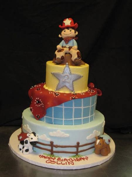themed birthday cakes atlanta lil sheriff western cake westerncake cakesbydarcy