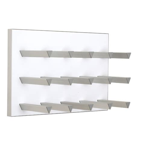 White Wall Rack by Vinowall 12 Bottle Wall Mounted Wine Rack White The