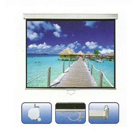 Layar Proyektor 70 Inch Tipe Gantung jual d light motorized wall screen harga layar proyektor