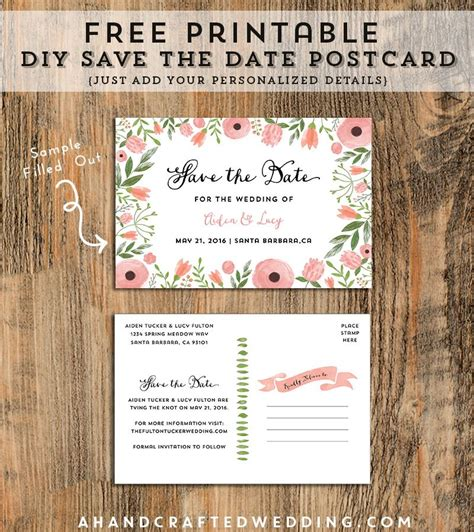 printable postcards save the date diy save the date postcard free printable postcards all
