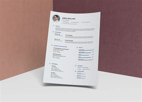 simple resume template photoshop free simple resume template in photoshop psd format resume