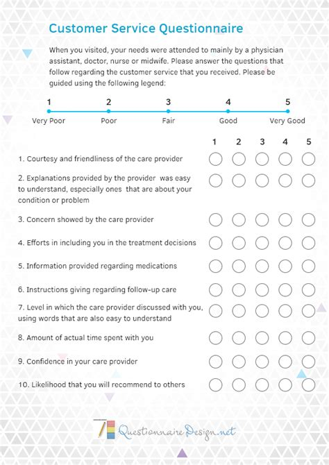 layout for questionnaire customer service questionnaire design questionnaire design