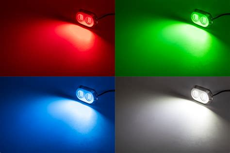 led underwater boat lights and dock lights double lens - Red And White Boat Lights