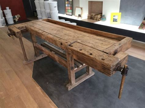 joiners work bench wooden antique carpenters work bench fully restore