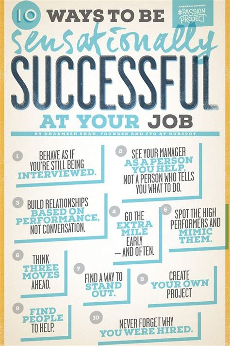 10 Ways To Your by 10 Ways To Be Sensationally Successful At Your