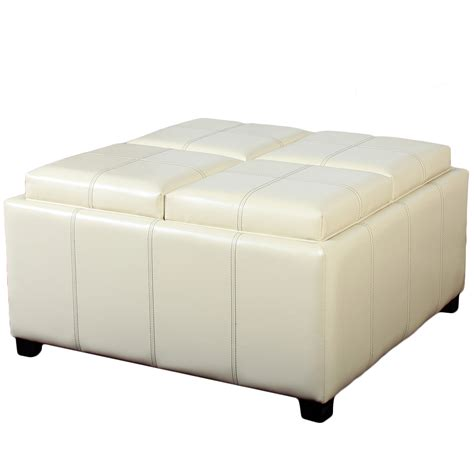 storage ottoman cube with tray storage ottoman cube with tray images
